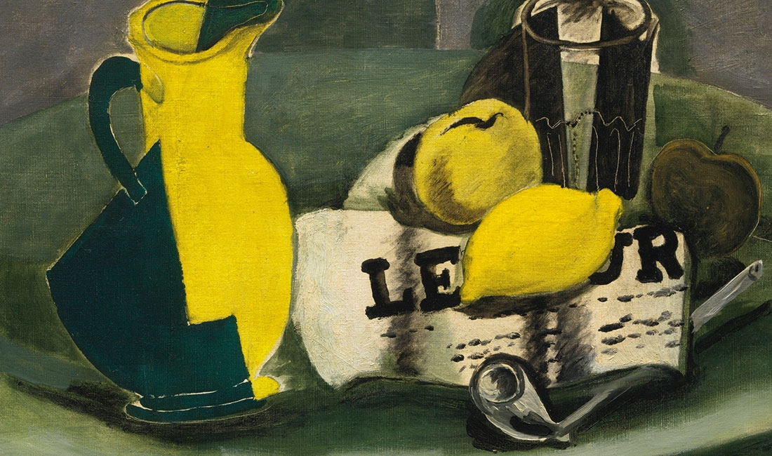 Georges Braque, Pitcher and Journal