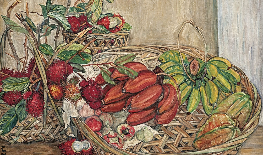 Georgette Chen, Still Life with Tropical Fruits