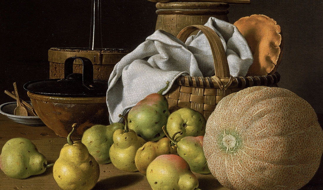 Luis Meléndez, Still Life with Melon and Pears