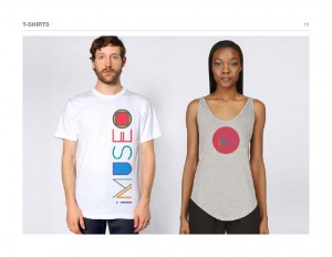 T-shirts with alternative fun logo treatment using color palette